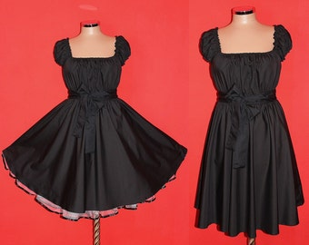 Jet Black 40s 50s RockaBilly swinG Pin Up DresS Plus Size 16 18 20 Summer Party 2x