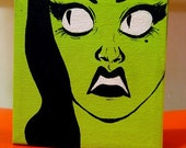 Oh Horrorface - 5x5 box canvas painting