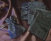10 Black Organza Bags 3 x 4 drawstring jewelry pouches