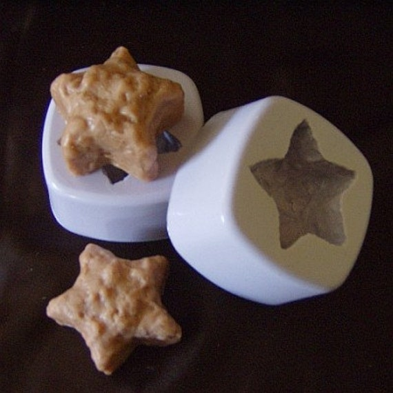2 Primitive Grubby Stars, Wax Candle Tart Mold, Silicone Molds