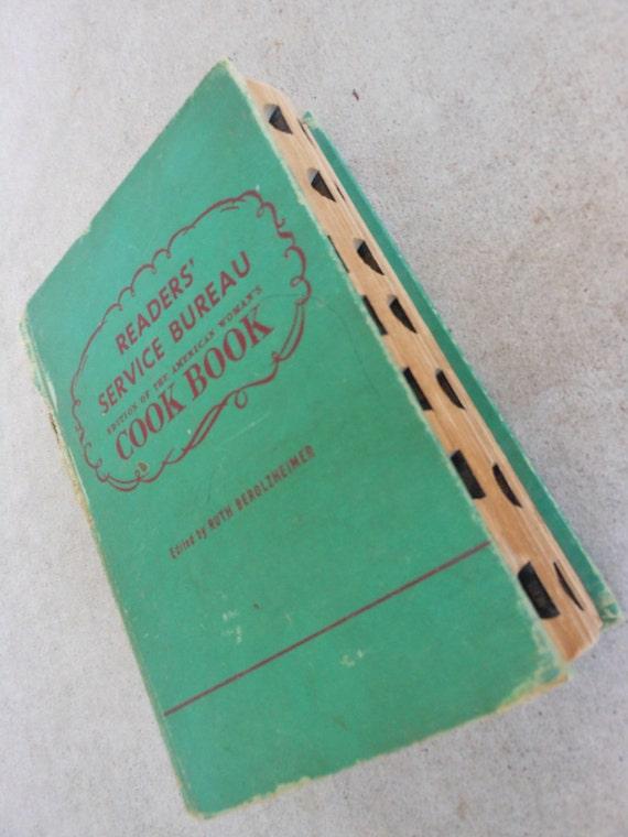 Vintage Cook Book Readers' Service Bureau 1941