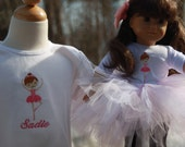 TLB Custom Designed Dolly and Me Tutu and Personalized T shirt set
