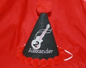 "Rad ""Rock and Roll"" Personalized Party Hat & T-shirt Set - Rock Star - Cake Smash - Celebration - Decor - Theme"