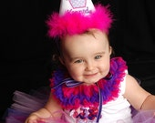 TLB Custom Boutique Purplelicious Cupcake Crown Princess Personalized Birthday Party Hat Boy Girl
