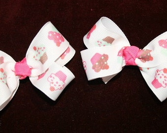 Boutique Cupcake Cutie hair bow Toddler Pink