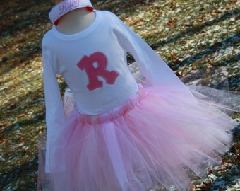 TLB  Tutu and Personalized Initial  T shirt set
