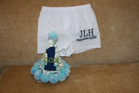 Personalized Birthday Boxer Shorts for Boys - Party - Gift - Celebration - Cake Smash - 1st Birthday - Decor - Custom