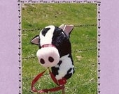Kids Stick Moo Cow Sewing Pattern by Nebraska Designer Kimberly Loberg