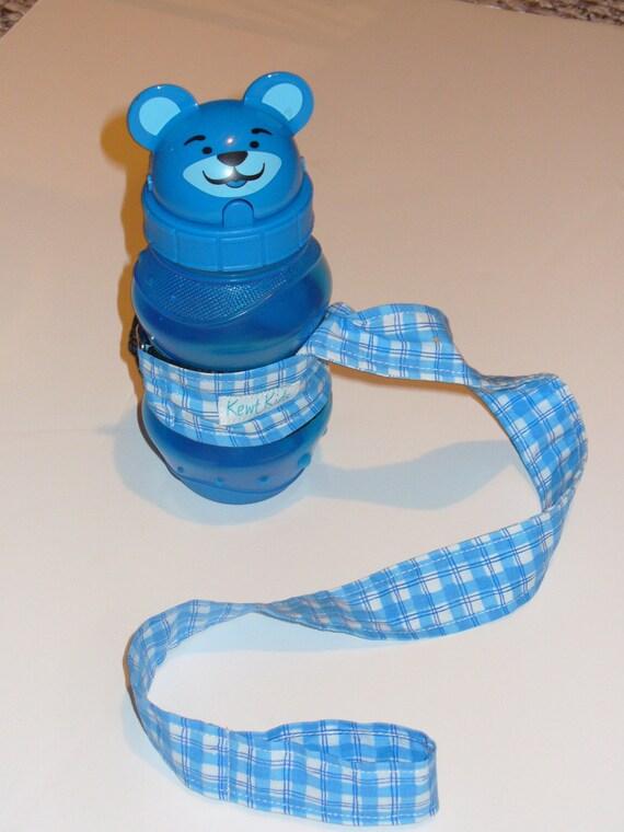 CLEARANCE SALE Happy Strap Bottle Leash in Blue Plaid