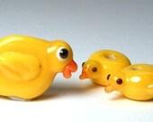 RUB A DUB DUB...Duck Lampwork Beads