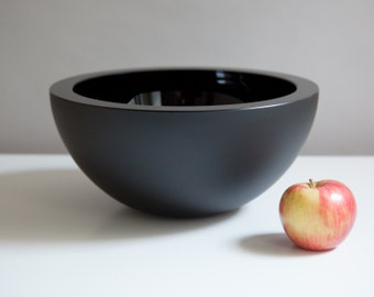 Obsidian Bowl, Hand Blown Glass Bowl in Black