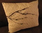 winter branch pillow