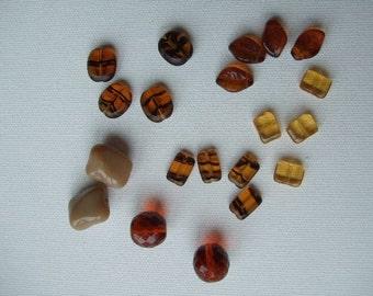 Brown Glass Bead Mix
