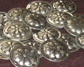 50 Kuchi Gillet Shiny Silver Amulet Beads ... Great for Tribal Bellydance Costuming