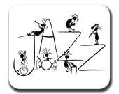 Kokopelli Jazz Band Music Art Mouse Pad