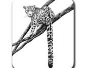 Clouded Leopard Cat Art Mouse Pad