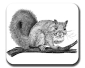 Squirrel Cross My Heart Art Mouse Pad