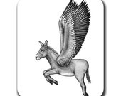 Flying Donkey Burro Mule Art Mouse Pad