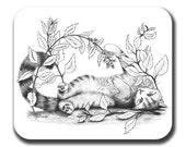 Catnip Kitty Cat Art Mouse Pad