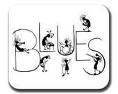 Kokopelli Blues Band Mouse Pad Music Art