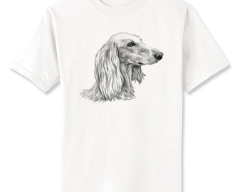 Saluki 2 Dog Art T-Shirt Youth and Adult Sizes