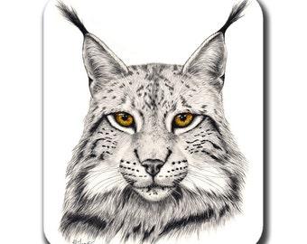 Eurasian Lynx Cat Art Mouse Pad