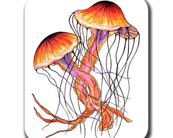 Jellyfish Dance Art Mouse Pad