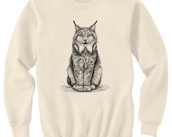 Canadian Lynx Cat Art Sweatshirt Ultra Cotton Small - 2XL