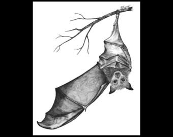 Bat Wing Wave 8 x 10 Signed Giclee Fine Art Print