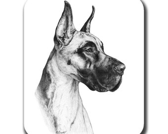 Great Dane Dog Art Mouse Pad