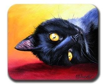 Van Gogh's Cat Art Mouse Pad