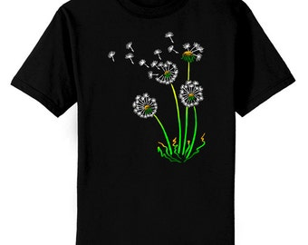 Dandelions Flower Seeds Art T-Shirt Youth and Adult Sizes