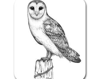 Barn Owl Bird Art Mouse Pad