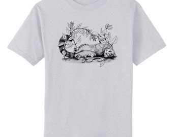 Catnip Kitty Cat Art T-Shirt Youth and Adult Sizes