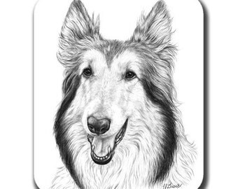 Collie Dog Art Mouse Pad