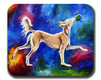 Saluki Dance Dog Art Mouse Pad