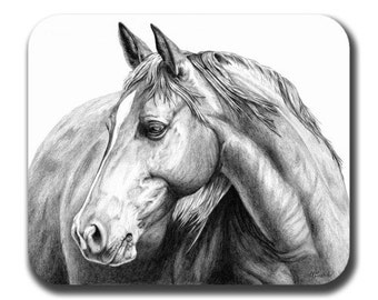 Horse Art Mouse Pad - Summer Breeze