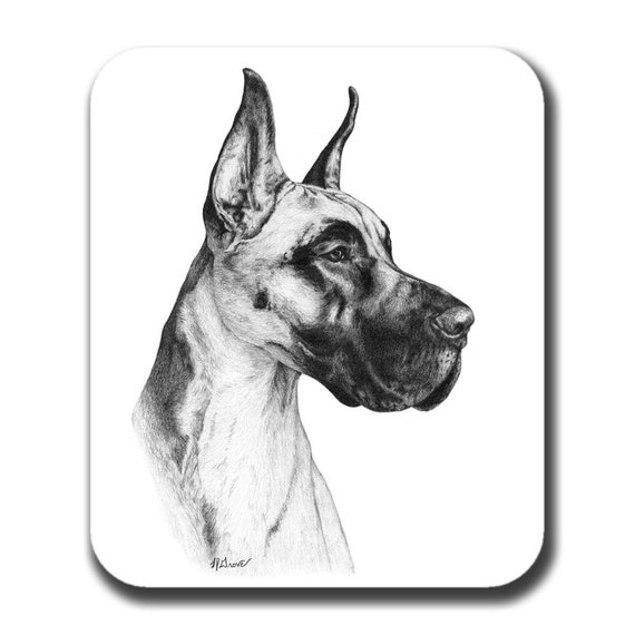 Great Dane Dog Art Mouse Pad