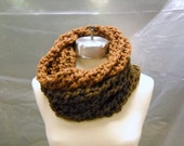 Cowl / Dark and Light Brown / Double Cowl - Free Shipping