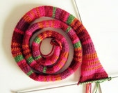 Extra Long Scarf - Warm Colors - Handknitted in Merino Blend Wool - Reserved for Maryology