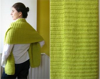 Yellow Knit Scarf, Shawl, Long Scarf, Neck Warmer, Hand Knit, Womens Scarves, Winter, Wrap, Handmade Scarf, Cute Scarf, Wool Scarf, branda