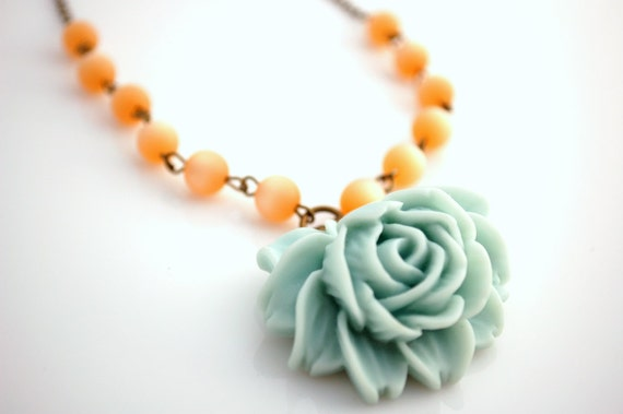 Pale Blue Rose Necklace Buy 3 Get 1 Free