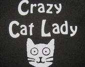 Crazy Cat Lady Black Apron