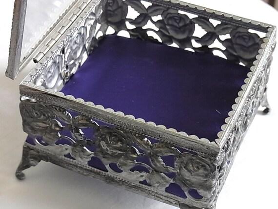 Pretty Updated Filagree Jewelry Box