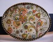 Jada Belt Buckle - Harvest - Oval Wearable Art