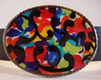 mod mosaic belt buckle