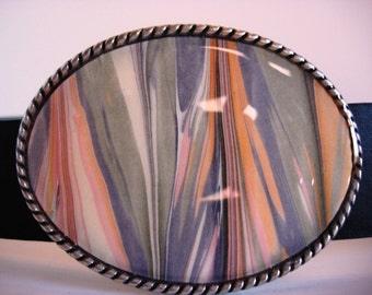 Belt Buckle - Marble - Wearable Art Belt Buckles