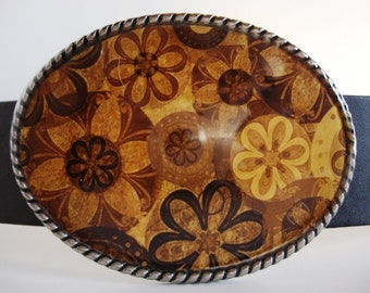 Autumn Harvest Belt Buckle - Oval Wearable Art