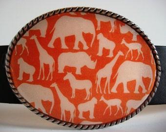 Jada Belt Buckle - Out of Afrika - Oval Wearable Art