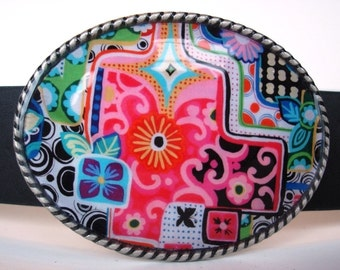 Jada Belt Buckle - Jasper - Oval Wearable Art